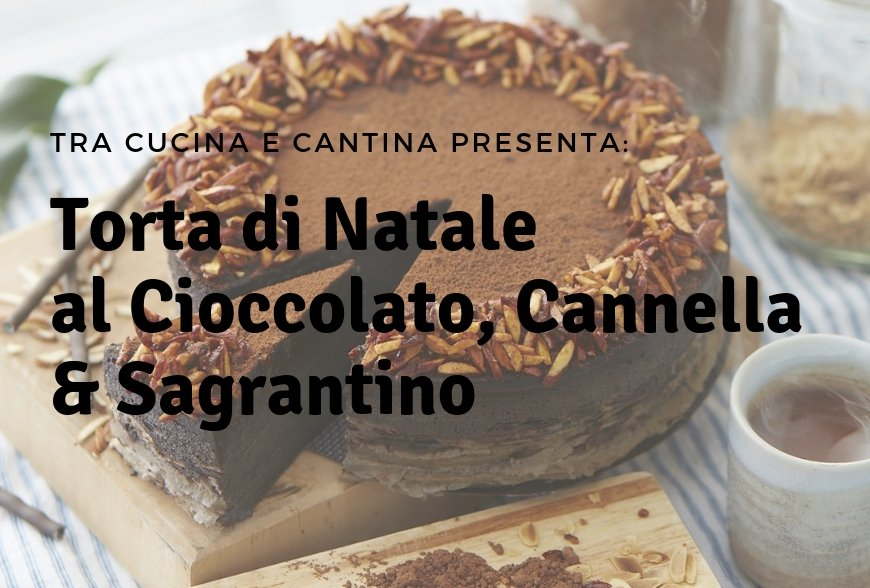 CHRISTMAS CAKE WITH SAGRANTINO, CHOCOLATE AND CINNAMON!