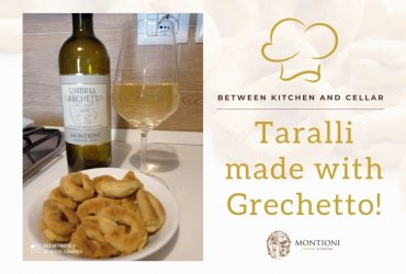 Taralli made with montioni umbria grechetto: a quick and easy aperitif!